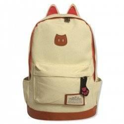 Стильный рюкзак с ушками CAT, белый