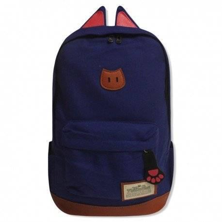 Стильный рюкзак с ушками CAT, черный
