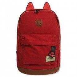 Стильный рюкзак с ушками CAT, красный