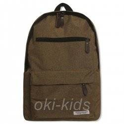 Рюкзак мужской с USB кабелем, коричневый.
