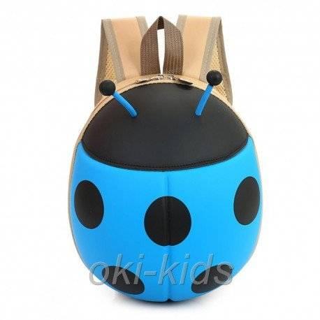 Рюкзак детский. Божья коровка, голубая.