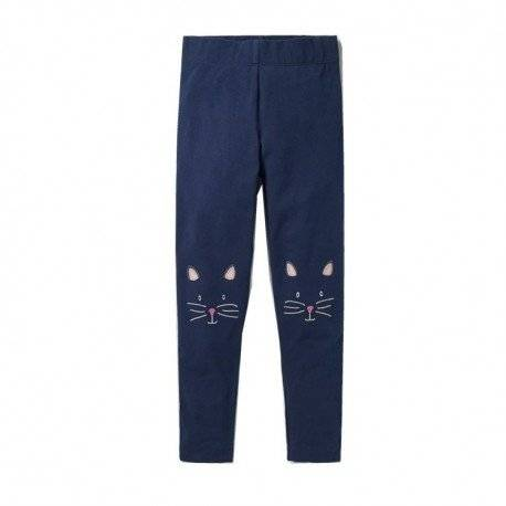 Лосины для девочки «Кошка», синие