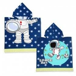 Полотенце пончо, Космонавт. 60*60 микрофибра.