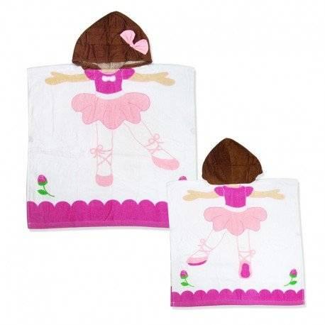 Полотенце махровое для девочки, Балерина