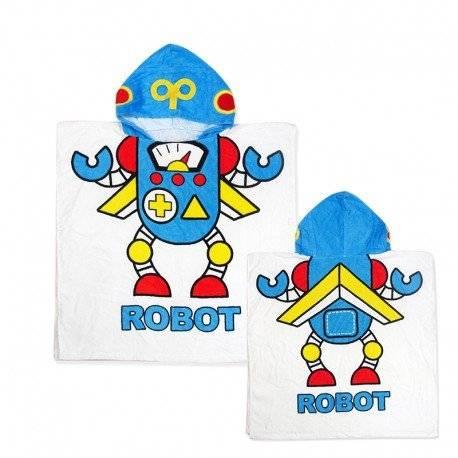 Полотенце пончо для мальчика Робот.