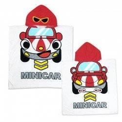 Полотенце пончо для мальчика Мини кар.