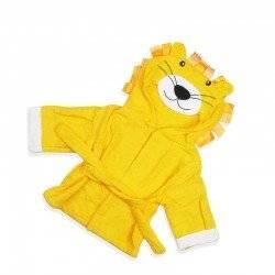 Халат детский, желтый, Львенок.