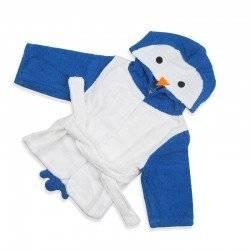 Халат детский, белый, Пингвин.