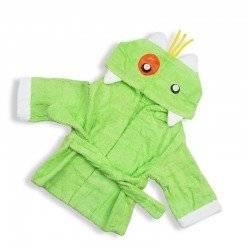 Халат детский, зеленый, Динозавр.