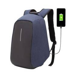 Городской рюкзак XD Design Bobby Анти-вор, с USB зарядкой. Синий.