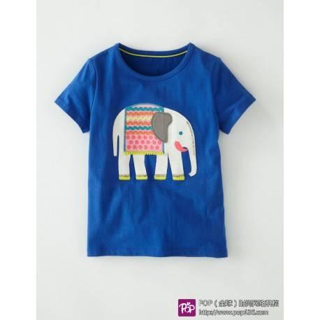 Футболка для мальчика, синяя «Слон»