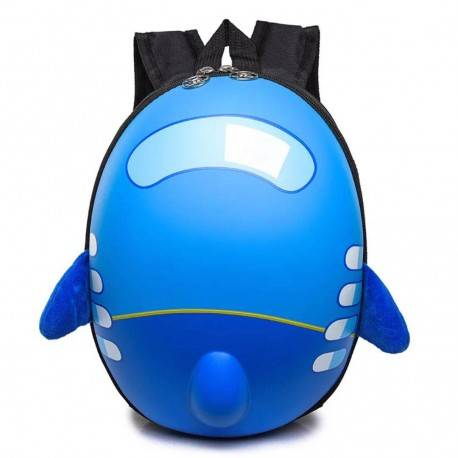 Рюкзак детский. Самолет, голубой. Каркасный.