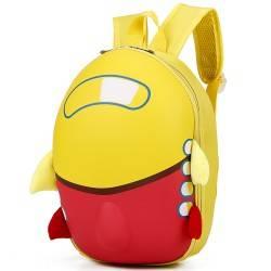 Рюкзак детский. Самолет, желтый. Каркасный.