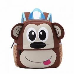 """Детский рюкзак """"Обезьянка"""", коричневый."""