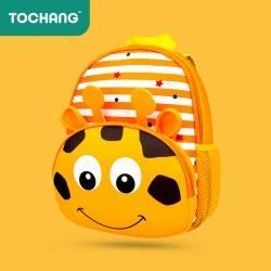 Детский рюкзак, оранжевый. Жираф.