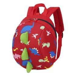 Детский рюкзак, красный. Динозавр.