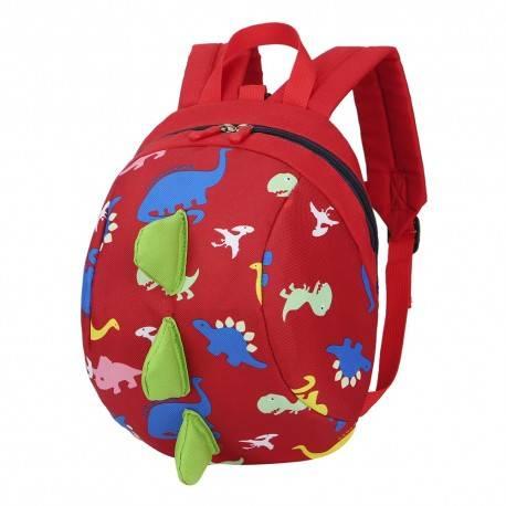 """Детский рюкзак """"Динозавр"""", красный."""