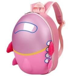 Рюкзак детский. Самолет, розовый. Каркасный.