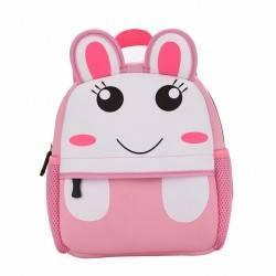 Рюкзак детский, розовый. Кролик.