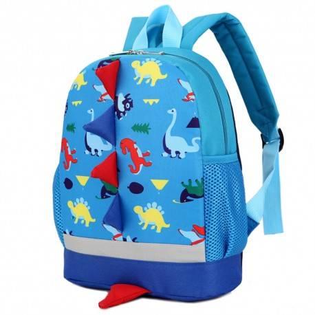 """Рюкзак детский """"Динозаврики"""", голубой."""