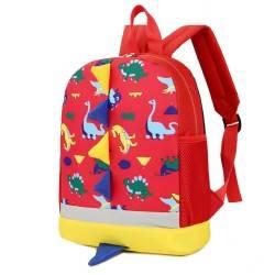 """Рюкзак детский """"Динозаврики"""", красный."""