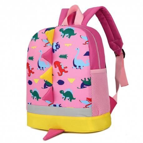 """Рюкзак детский """"Динозаврики"""", розовый."""