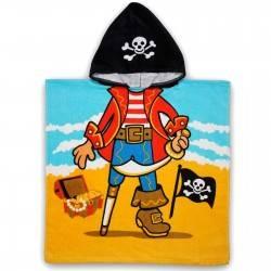 Полотенце пончо для мальчика. Пират. 60*60 Хлопок.