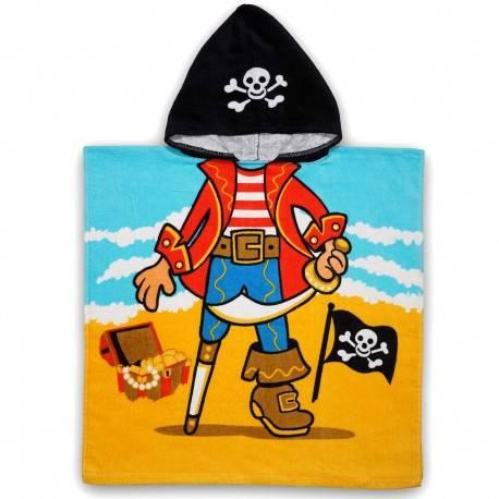 Полотенце пончо, пират с кладом