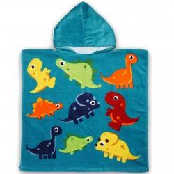 Полотенце пончо, динозаврики
