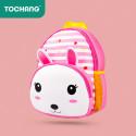 Детский рюкзак, розовый. Кролик.