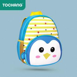 Детский рюкзак, голубой. Пингвин.