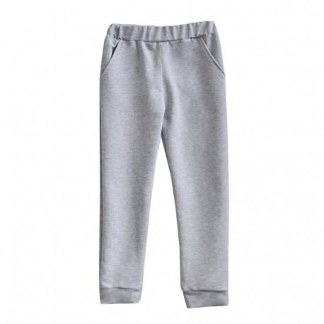 """Штаны для девочки """"Скины"""", серый."""