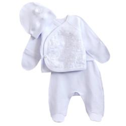 Нарядный комплект для новорожденных. Белый.