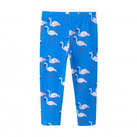 """Леггинсы для девочки, голубые. """"Фламинго""""."""