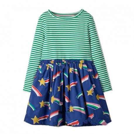Платье для девочки, зеленое. Камета.