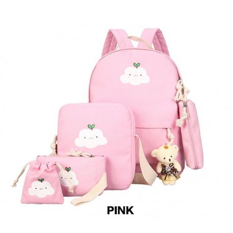 """Рюкзак школьный, набор розового цвета. """"Облачко"""""""