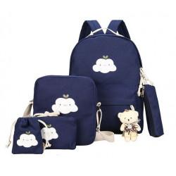 """Рюкзак школьный, набор темно синего цвета. """"Облачко"""""""