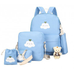 """Рюкзак школьный, набор голубого цвета. """"Облачко"""""""