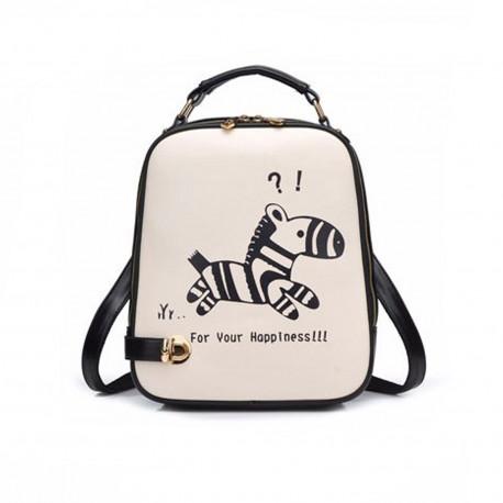 Рюкзак городской для девочки. Zebra.