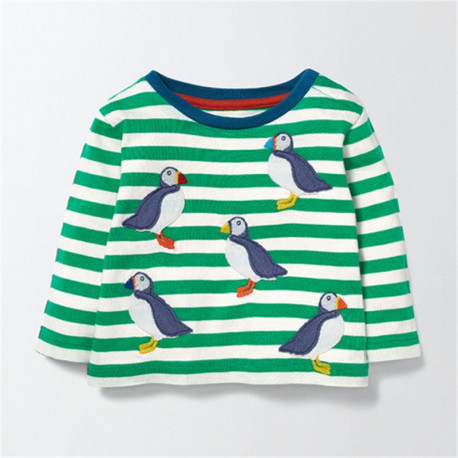 Реглан для мальчика, зеленый. Пингвины.