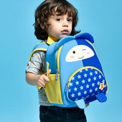 Рюкзак детский, синий. Близнецы. Знаки зодиака.