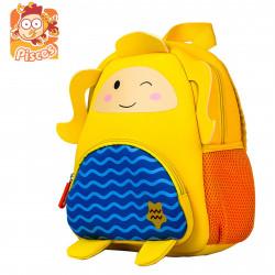 Детский рюкзак, желтый. Рыба. Знаки зодиака.