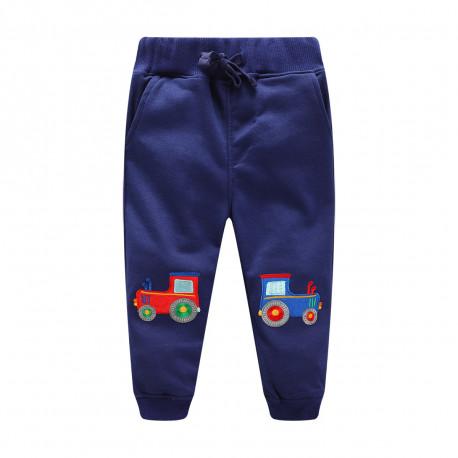 """Детские штаны, синие. """"Трактор"""""""