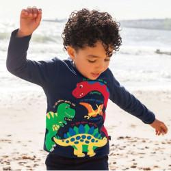 Реглан для мальчика, синий. Динозавры.