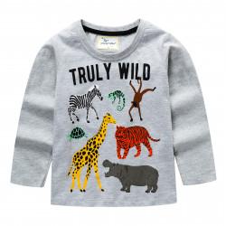 Кофта для мальчика, серая. Animals.