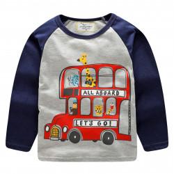 Кофта для мальчика, серая. Bus.