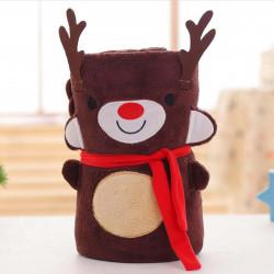 Новогодний плед, детский, 75*100. Deer