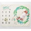 Одеяло ростомер, для новорожденных. 70*102 см. Bunny