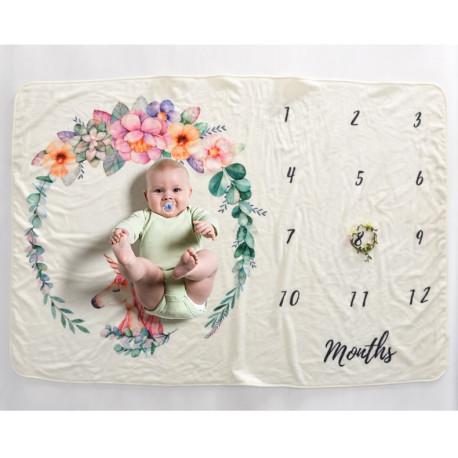 Одеяло ростомер, для новорожденных. 70*102 см. Unicorn