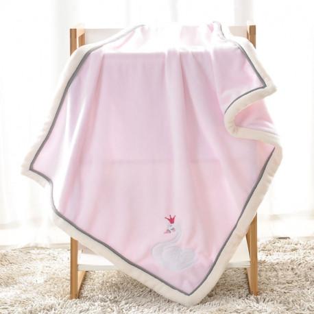 Плед детский, розовый. 75*100 см. Swan